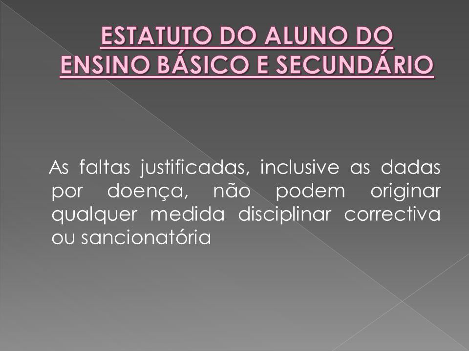 As faltas justificadas, inclusive as dadas por doença, não podem originar qualquer medida disciplinar correctiva ou sancionatória