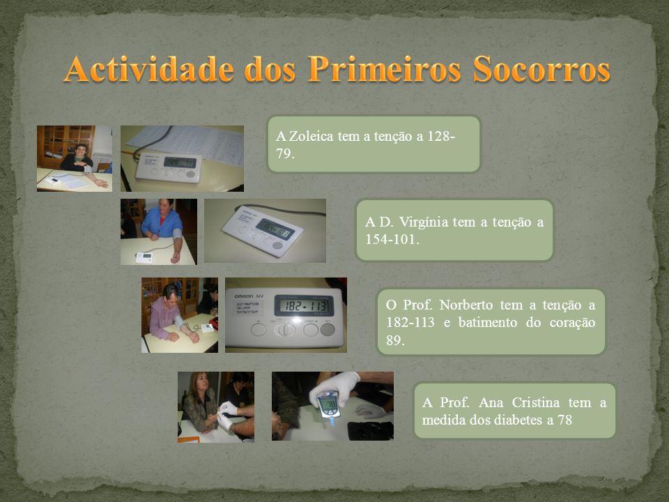 O Prof. Norberto tem a tenção a 182-113 e batimento do coração 89.