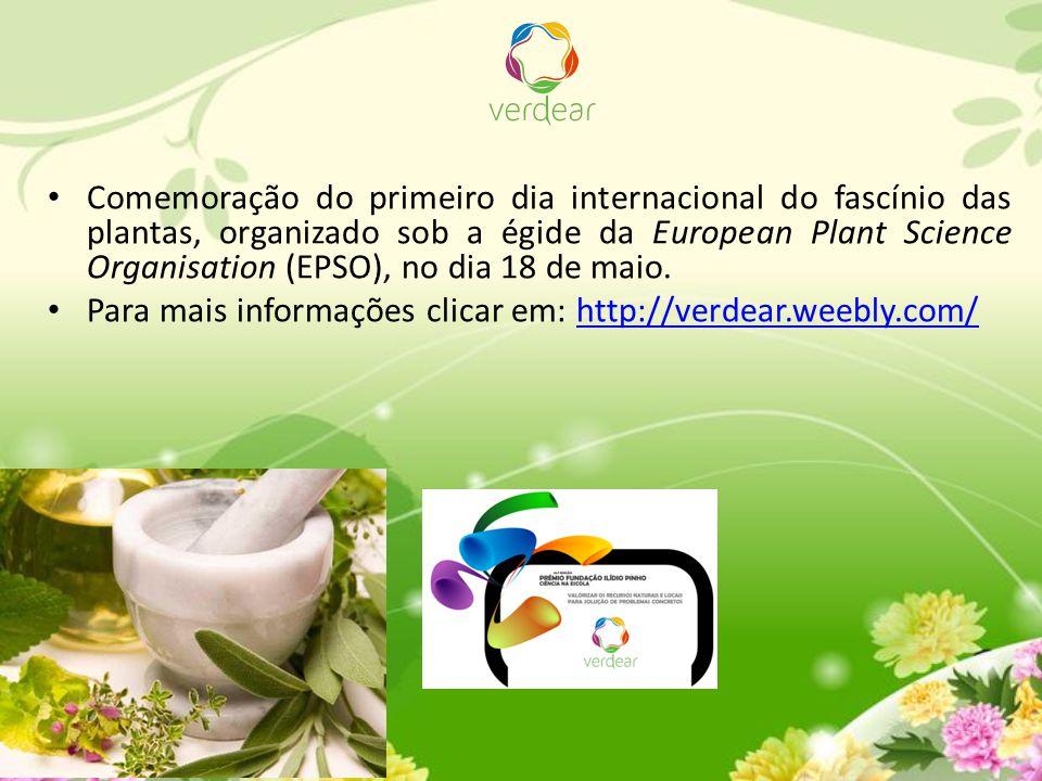 Comemoração do primeiro dia internacional do fascínio das plantas, organizado sob a égide da European Plant Science Organisation (EPSO), no dia 18 de