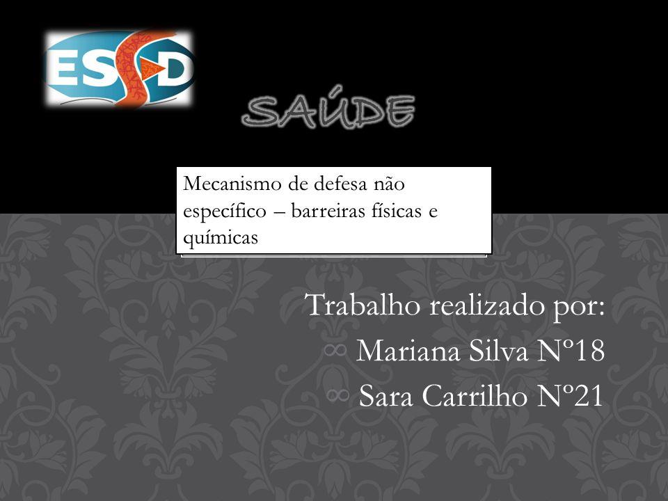 Trabalho realizado por: ∞ Mariana Silva Nº18 ∞ Sara Carrilho Nº21 Mecanismo de defesa não específico – barreiras físicas e químicas