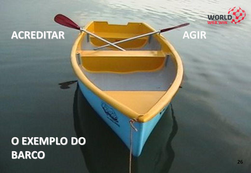 ACREDITAR O EXEMPLO DO BARCO AGIR 26