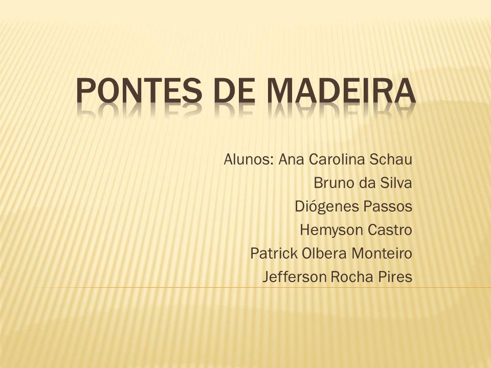 Alunos: Ana Carolina Schau Bruno da Silva Diógenes Passos Hemyson Castro Patrick Olbera Monteiro Jefferson Rocha Pires