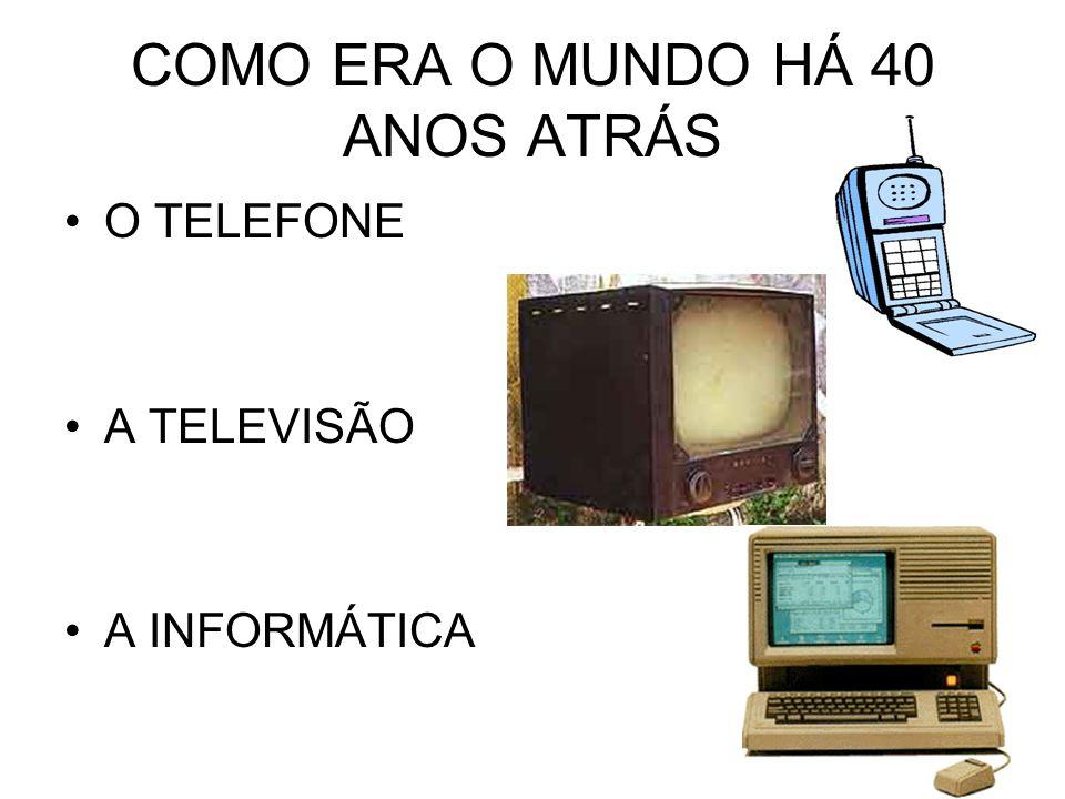 COMO ERA O MUNDO HÁ 40 ANOS ATRÁS O TELEFONE A TELEVISÃO A INFORMÁTICA
