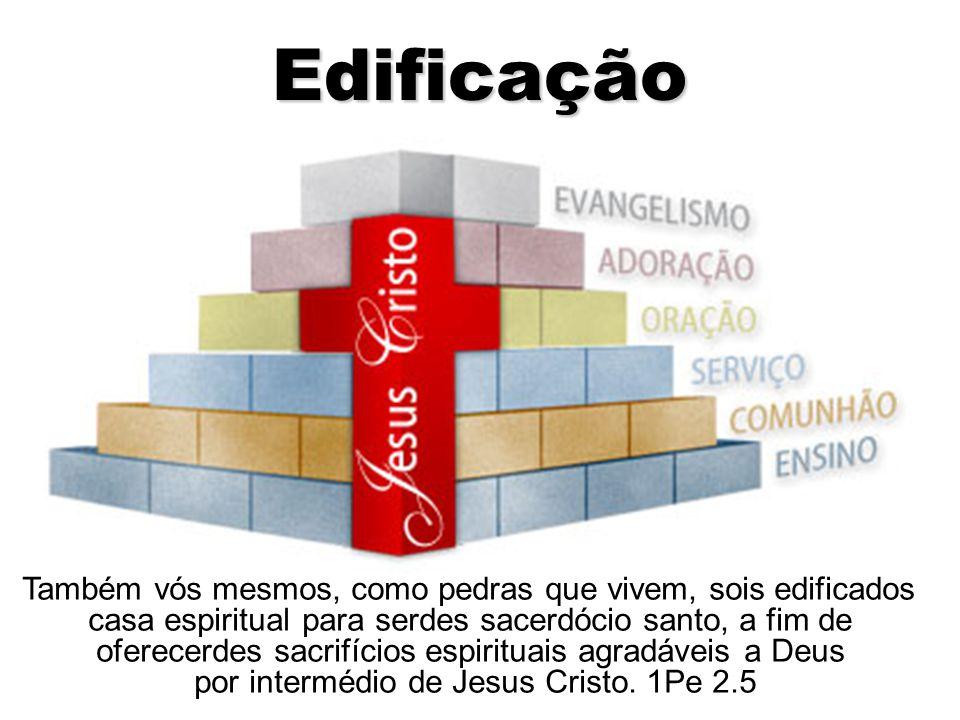 Edificação Também vós mesmos, como pedras que vivem, sois edificados casa espiritual para serdes sacerdócio santo, a fim de oferecerdes sacrifícios es
