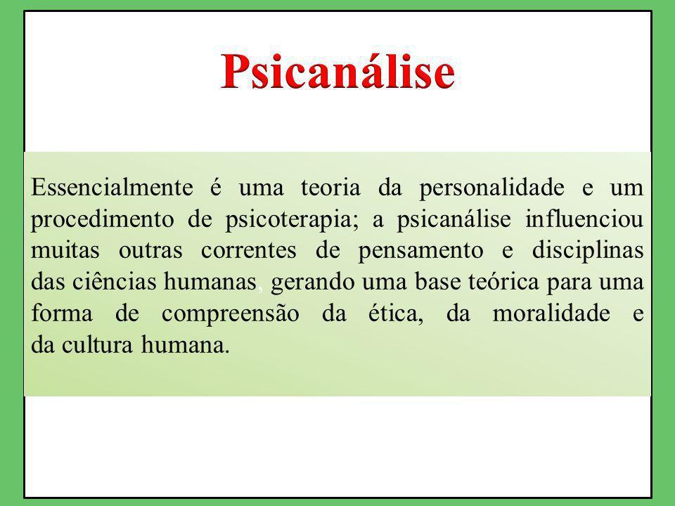 Essencialmente é uma teoria da personalidade e um procedimento de psicoterapia; a psicanálise influenciou muitas outras correntes de pensamento e disciplinas das ciências humanas, gerando uma base teórica para uma forma de compreensão da ética, da moralidade e da cultura humana.