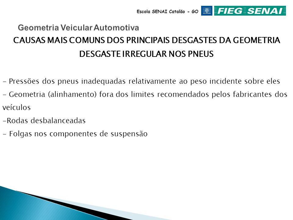 Escola SENAI Catalão - GO INSTABILIDADE DIRECIONAL - Pressão inadequada dos pneus - Terminais de direção com folgas - Caixa de direção com ajustes inc