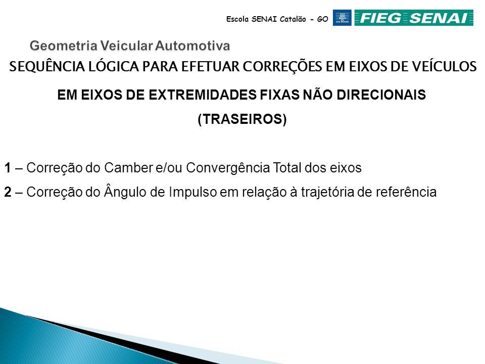 Escola SENAI Catalão - GO EM EIXOS DIRECIONAIS (DIANTEIROS) 1 – Correção do Camber e KPI *Somente pequenos valores são aconselhados pelos fabricantes.