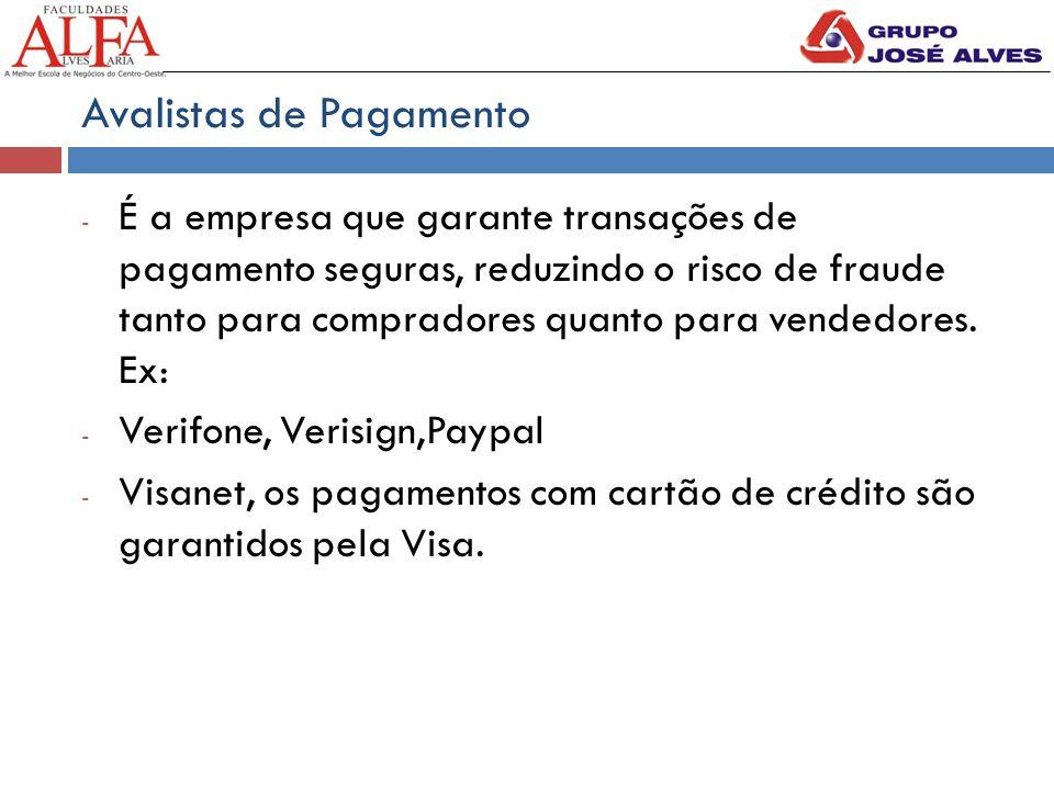 Avalistas de Pagamento - É a empresa que garante transações de pagamento seguras, reduzindo o risco de fraude tanto para compradores quanto para vende