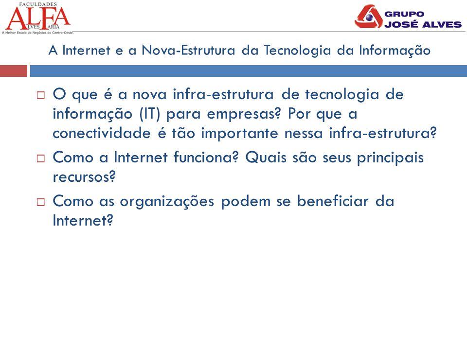 A Internet e a Nova-Estrutura da Tecnologia da Informação  O que é a nova infra-estrutura de tecnologia de informação (IT) para empresas? Por que a c