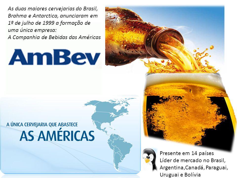 As duas maiores cervejarias do Brasil, Brahma e Antarctica, anunciaram em 1º de julho de 1999 a formação de uma única empresa: A Companhia de Bebidas