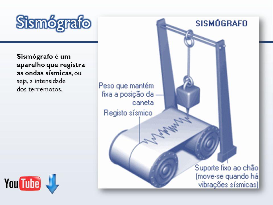 Sismógrafo é um aparelho que registra as ondas sísmicas, ou seja, a intensidade dos terremotos.