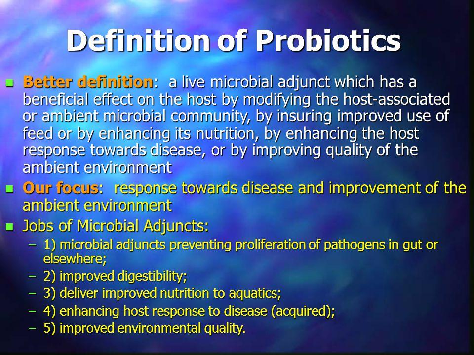 Rationale for Selecting Probiotics Verschuere et al. (2000)