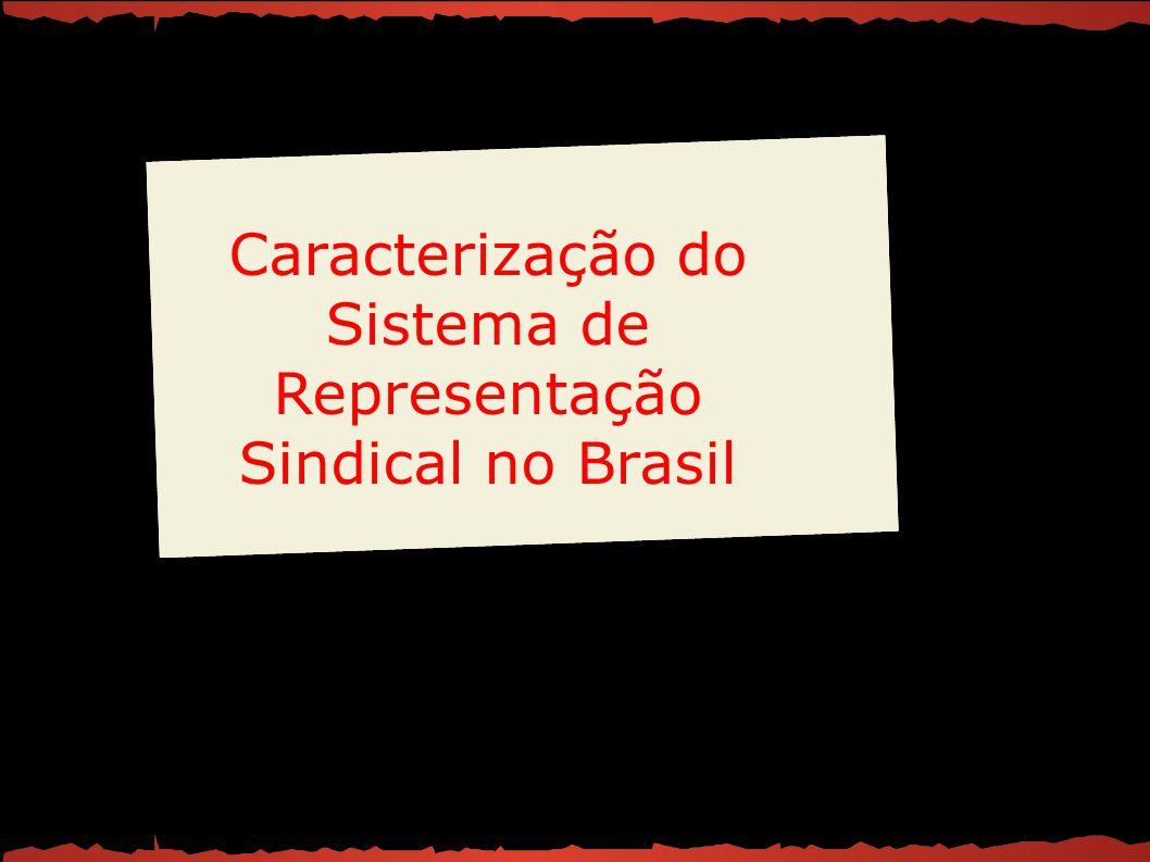 Caracterização do Sistema de Representação Sindical no Brasil