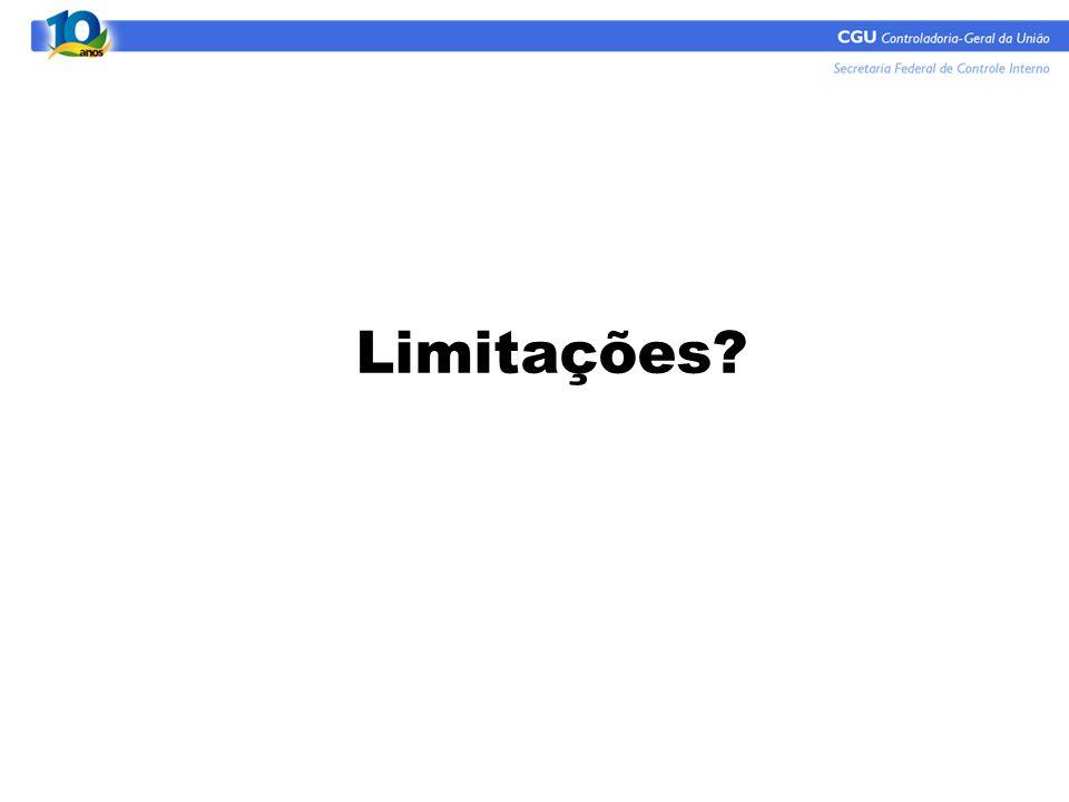 Limitações?