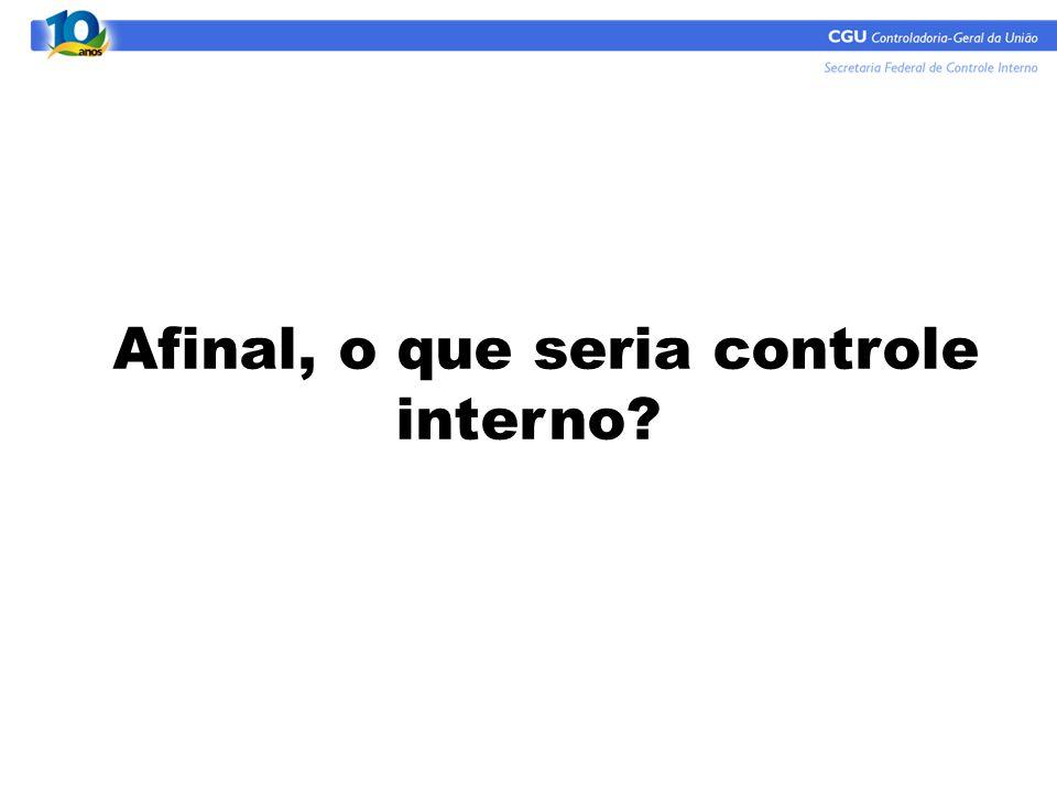 Afinal, o que seria controle interno??