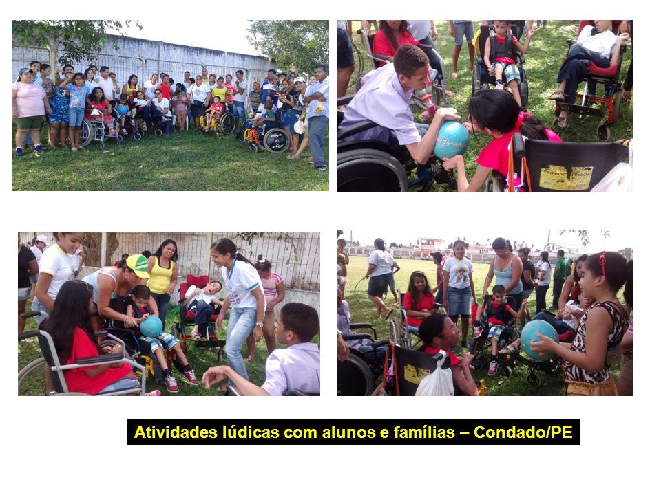 Atividades lúdicas com alunos e famílias – Condado/PE