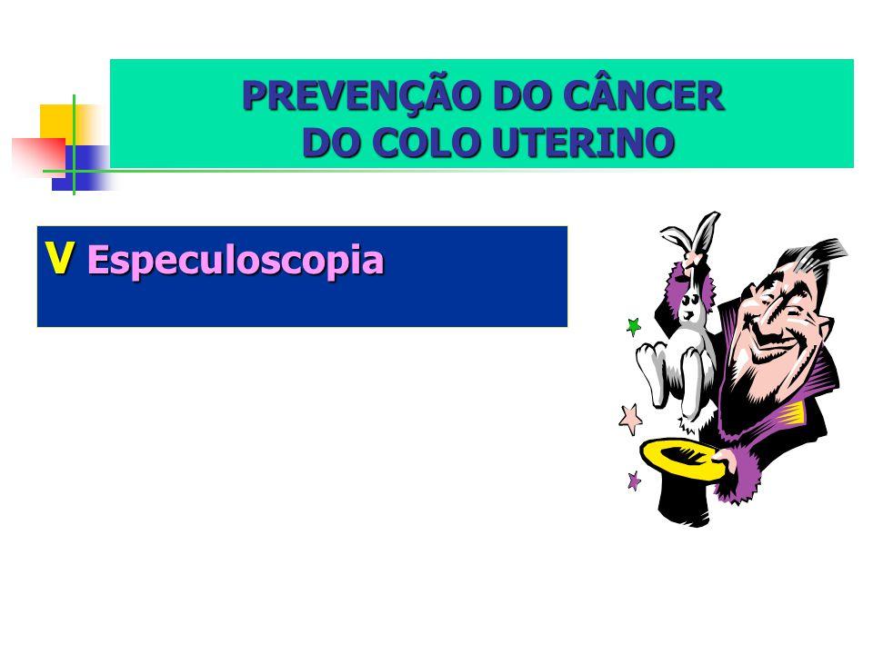 PREVENÇÃO DO CÂNCER DO COLO UTERINO VEspeculoscopia