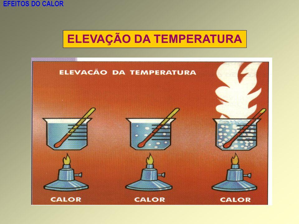 EFEITOS DO CALOR ELEVAÇÃO DA TEMPERATURA