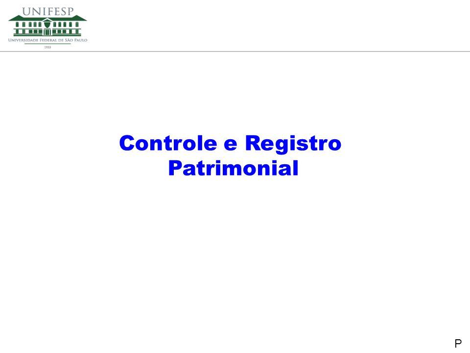 Reitoria Secretaria de Planejamento Controle e Registro Patrimonial P