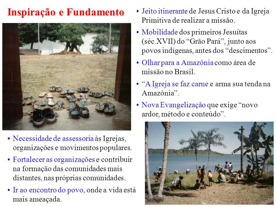 Inspiração e Fundamento Necessidade de assessoria às Igrejas, organizações e movimentos populares.