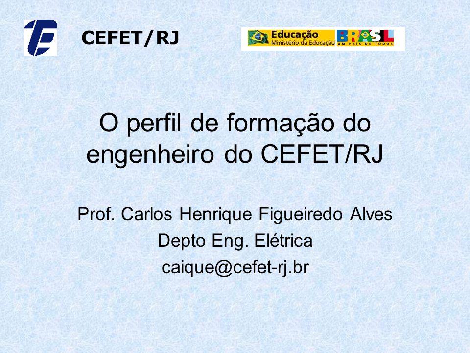 O perfil de formação do engenheiro do CEFET/RJ Prof. Carlos Henrique Figueiredo Alves Depto Eng. Elétrica caique@cefet-rj.br CEFET/RJ