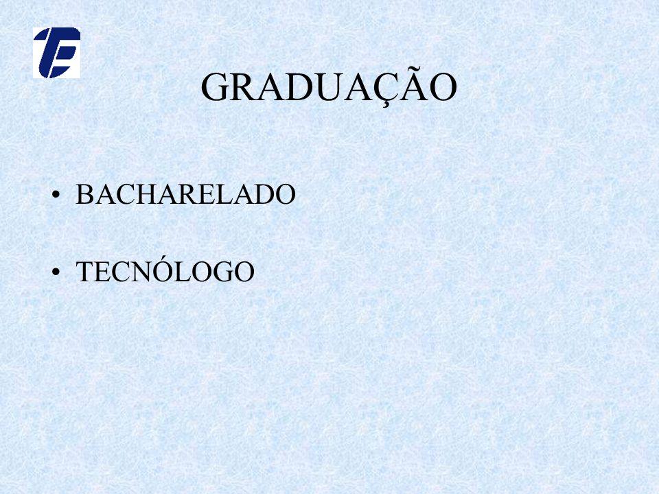 GRADUAÇÃO BACHARELADO TECNÓLOGO