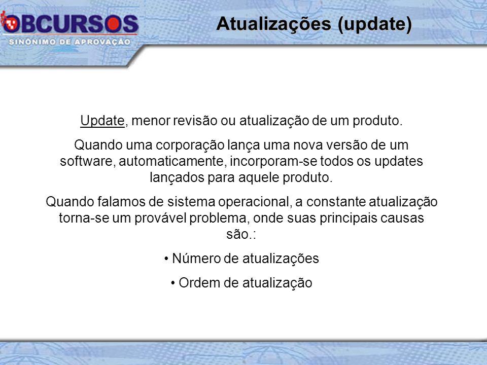 Update, menor revisão ou atualização de um produto.