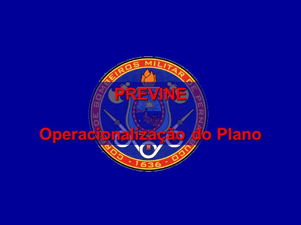 SECRETARIA DE DEFESA SOCIAL CORPO DE BOMBEIROS MILITAR DE PERNAMBUCO CG – Diretoria Geral de Operações 1 PREVINE Operacionalização do Plano