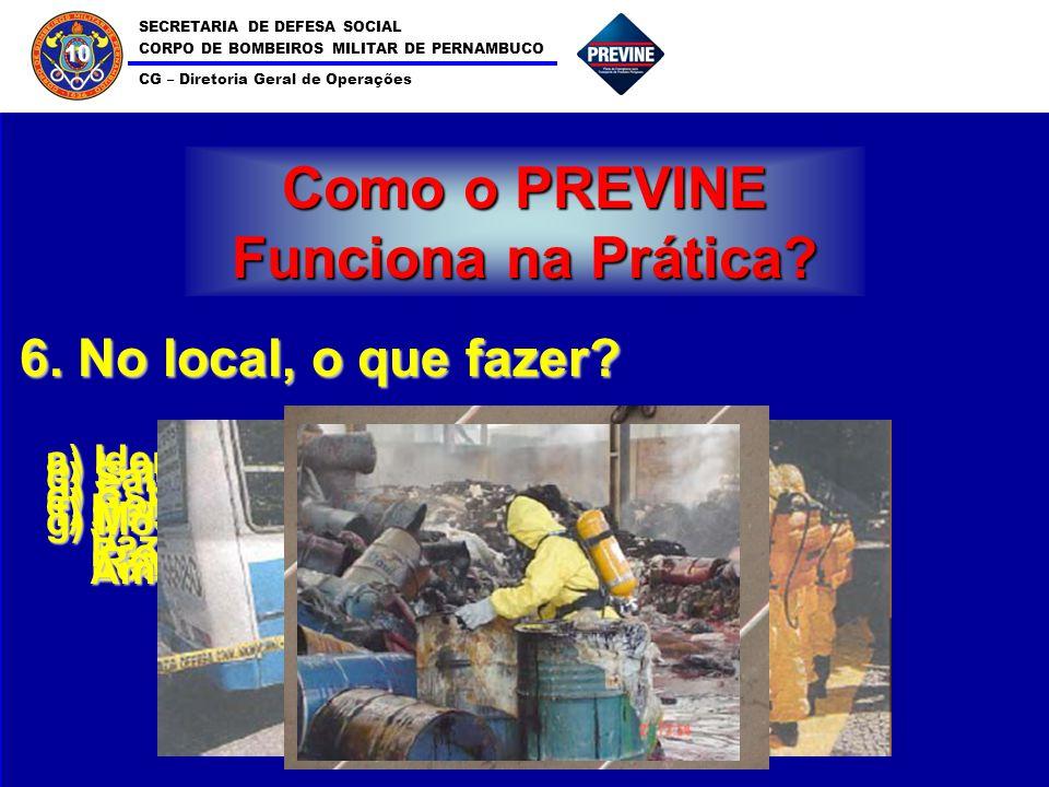 SECRETARIA DE DEFESA SOCIAL CORPO DE BOMBEIROS MILITAR DE PERNAMBUCO CG – Diretoria Geral de Operações 10 Como o PREVINE Funciona na Prática? 6. No lo