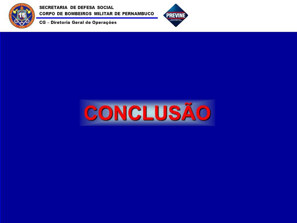 SECRETARIA DE DEFESA SOCIAL CORPO DE BOMBEIROS MILITAR DE PERNAMBUCO CG – Diretoria Geral de Operações 16 CONCLUSÃO