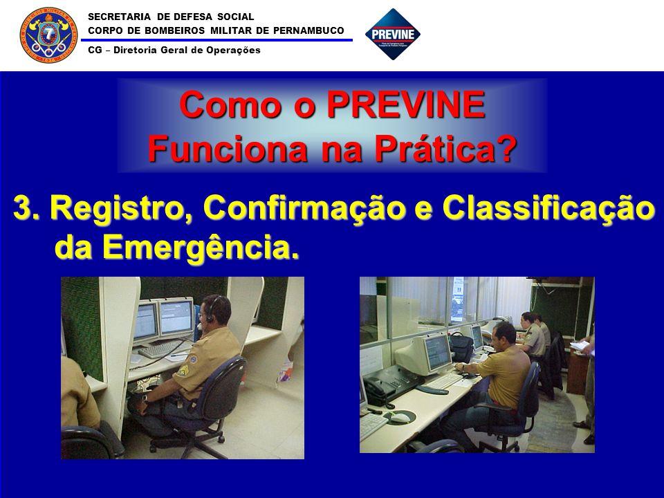 SECRETARIA DE DEFESA SOCIAL CORPO DE BOMBEIROS MILITAR DE PERNAMBUCO CG – Diretoria Geral de Operações 7 Como o PREVINE Funciona na Prática? 3. Regist