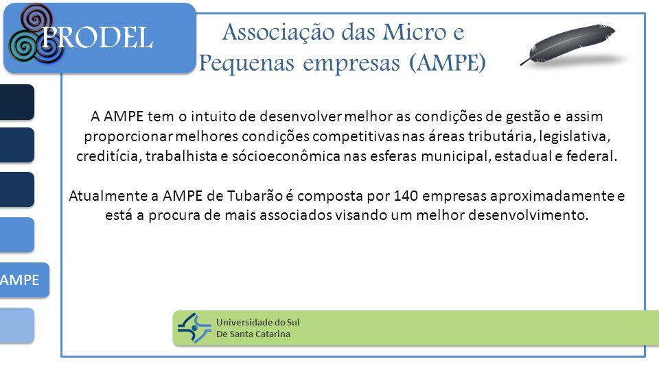 Associação das Micro e Pequenas empresas (AMPE) A AMPE tem o intuito de desenvolver melhor as condições de gestão e assim proporcionar melhores condiç