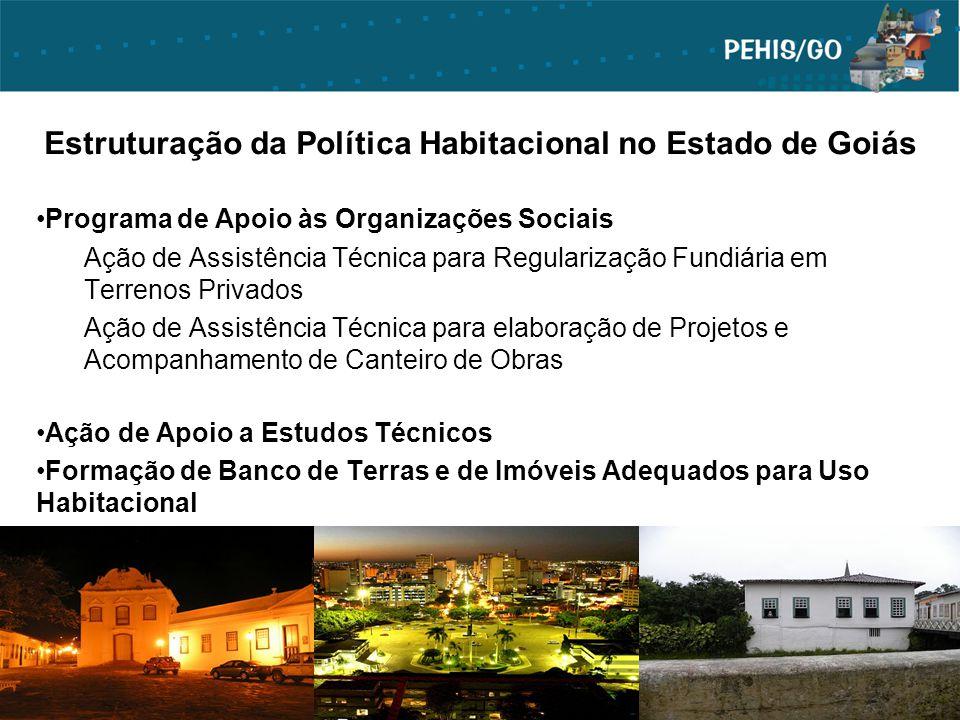 Estruturação da Política Habitacional no Estado de Goiás Programa de Apoio às Organizações Sociais Ação de Assistência Técnica para Regularização Fund