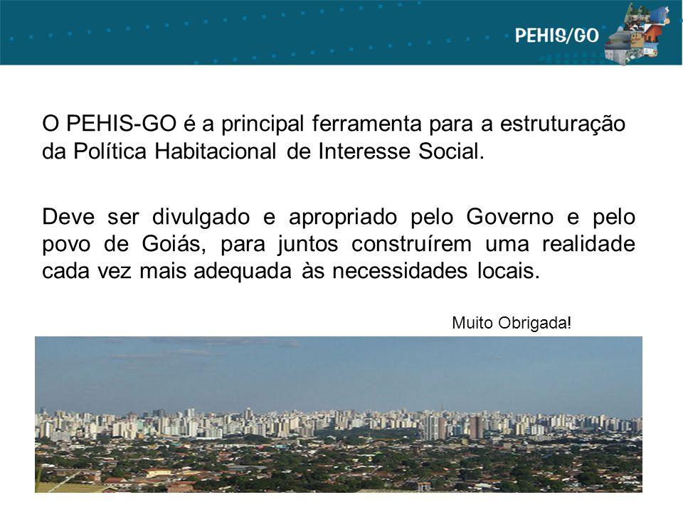 O PEHIS-GO é a principal ferramenta para a estruturação da Política Habitacional de Interesse Social. Deve ser divulgado e apropriado pelo Governo e p