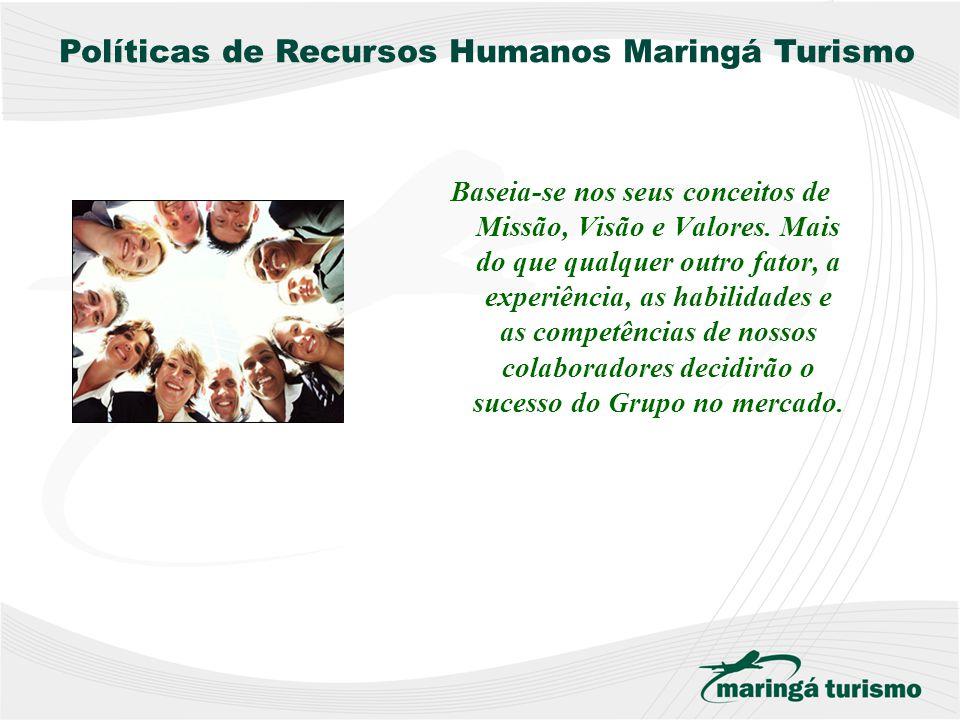 Políticas de Recursos Humanos IGUALDADE E OPORTUNIDADE AVALIAÇÃO DE POTENCIAL A política da Maringá Turismo proporciona a todas as pessoas igualdade d