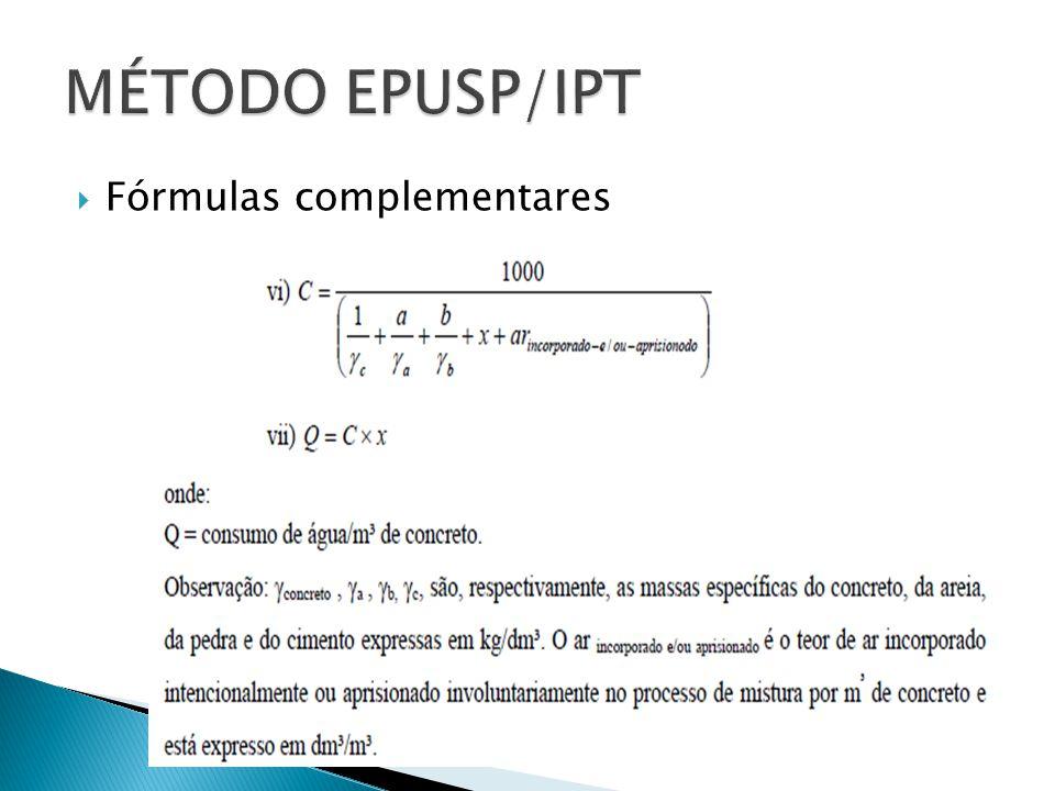  Fórmulas complementares