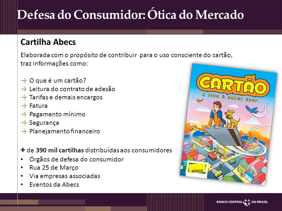 Defesa do Consumidor: Ótica do Mercado Elaborada com o propósito de contribuir para o uso consciente do cartão, traz informações como: →O que é um car