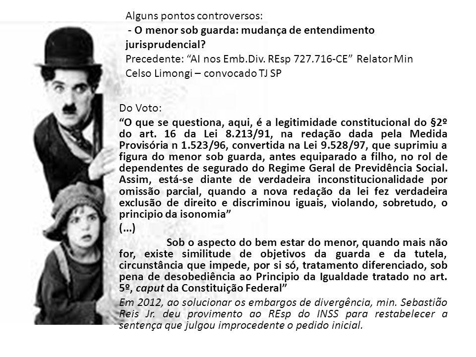 """Do Voto: """"O que se questiona, aqui, é a legitimidade constitucional do §2º do art. 16 da Lei 8.213/91, na redação dada pela Medida Provisória n 1.523/"""