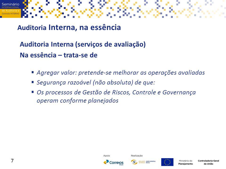 IPPF Estrutura Internacional de Práticas Profissionais International Professional practice Framework (IPPF) 1.