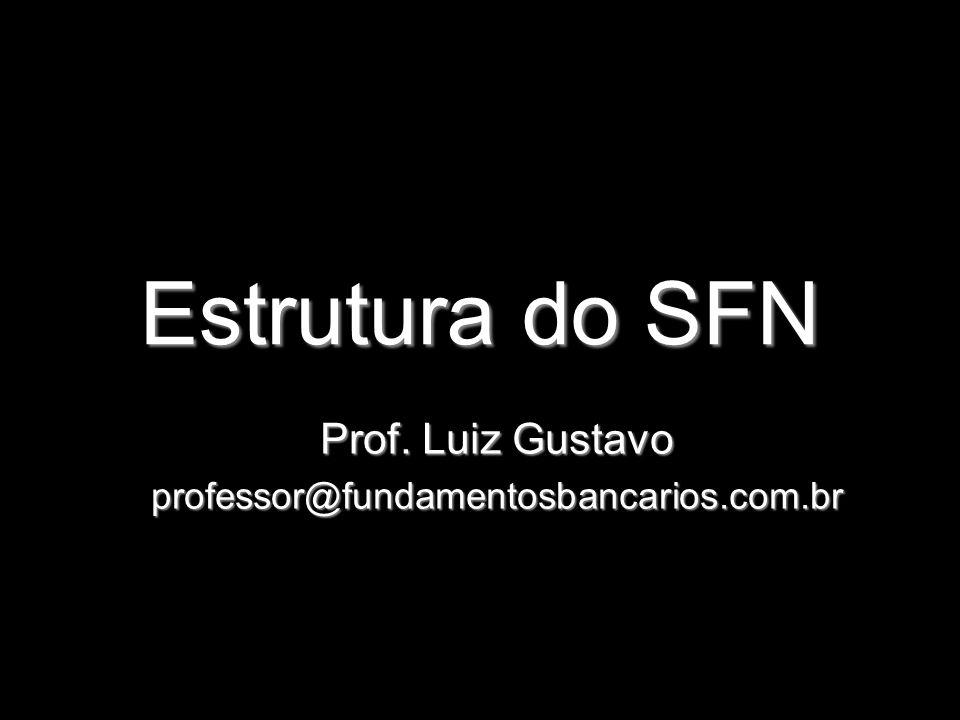 Estrutura do SFN Prof. Luiz Gustavo professor@fundamentosbancarios.com.br