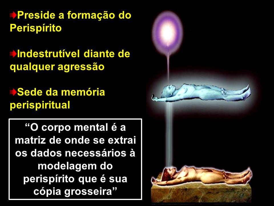 """Preside a formação do Perispírito Indestrutível diante de qualquer agressão Sede da memória perispiritual """"O corpo mental é a matriz de onde se extrai"""