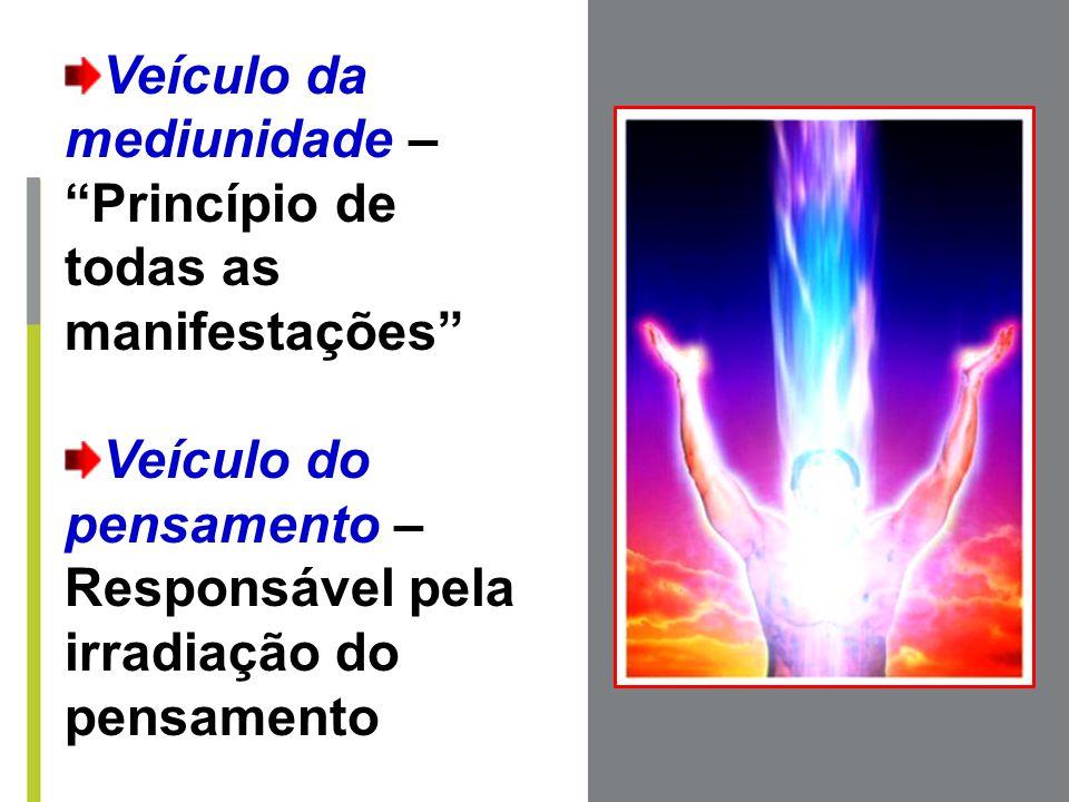 """Veículo da mediunidade – """"Princípio de todas as manifestações"""" Veículo do pensamento – Responsável pela irradiação do pensamento"""