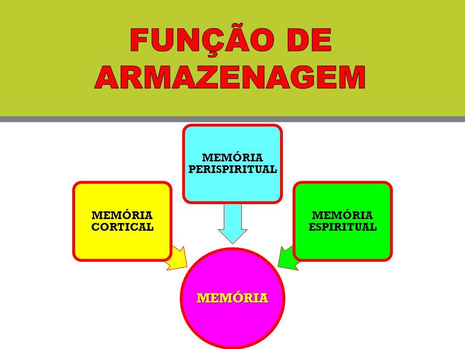 MEMÓRIA MEMÓRIA CORTICAL MEMÓRIA PERISPIRITUAL MEMÓRIA ESPIRITUAL