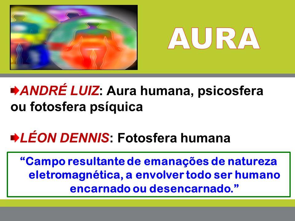 """""""Campo resultante de emanações de natureza eletromagnética, a envolver todo ser humano encarnado ou desencarnado."""" ANDRÉ LUIZ: Aura humana, psicosfera"""