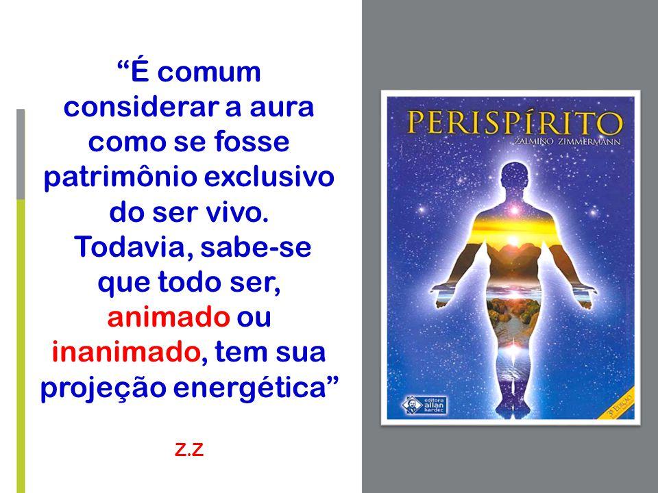 """""""É comum considerar a aura como se fosse patrimônio exclusivo do ser vivo. Todavia, sabe-se que todo ser, animado ou inanimado, tem sua projeção energ"""