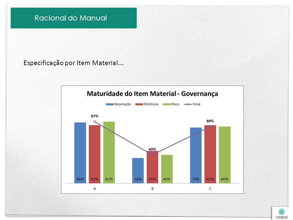Racional do Manual Especificação por Item Material...