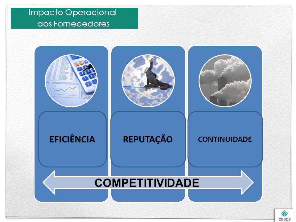 Impacto Operacional dos Fornecedores Custos Dificuldade de otimização de processo de terceiros Serviços aquém da qualidade esperada Riscos Rastreabili