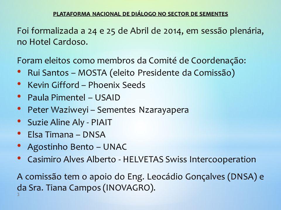 3 Foi formalizada a 24 e 25 de Abril de 2014, em sessão plenária, no Hotel Cardoso.
