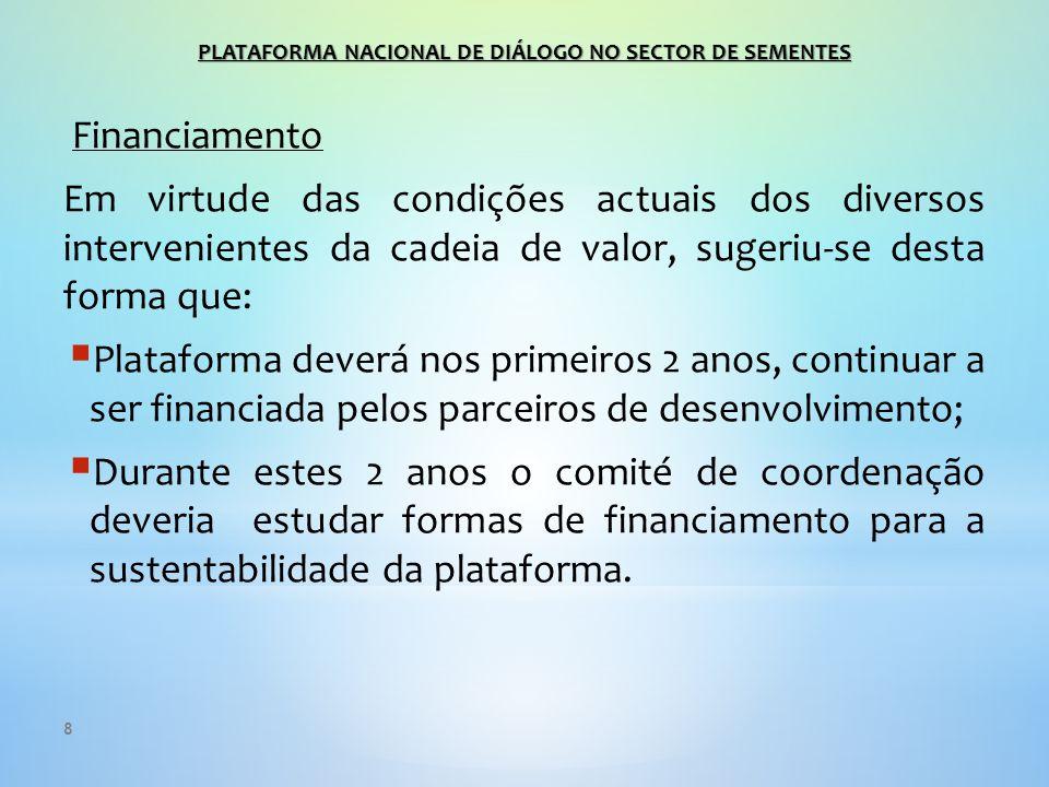 9 Será contratado um consultor (SET/14) para elaborar : Plano Estratégico detalhado sobre a estrutura e sistema de funcionamento do comité eleito tendo em conta as diferentes entidades que o compõem e o contexto real moçambicano, bem como, o seu funcionamento legal para um período compreendido de três (3) anos (1+2).