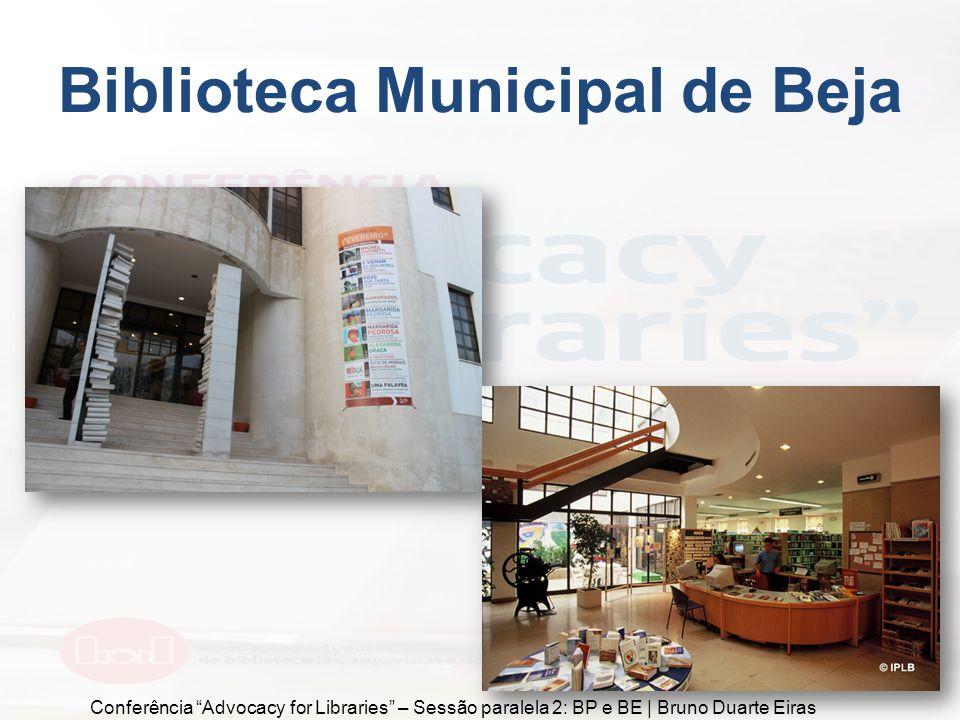 Biblioteca Municipal da Penha de França Conferência Advocacy for Libraries – Sessão paralela 2: BP e BE | Bruno Duarte Eiras